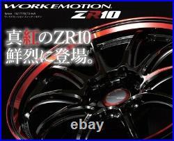 Work Emotion ZR10 18x9.5 +38 5x114.3 BRM from Japan 4 rims wheels JDM