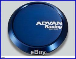 YOKOHAMA ADVAN Racing wheels Center Cap FLAT (73 Blue Anodize) from JAPAN