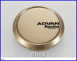 YOKOHAMA ADVAN Racing wheels Center Cap FLAT (73 Bronze anodized) from JAPAN